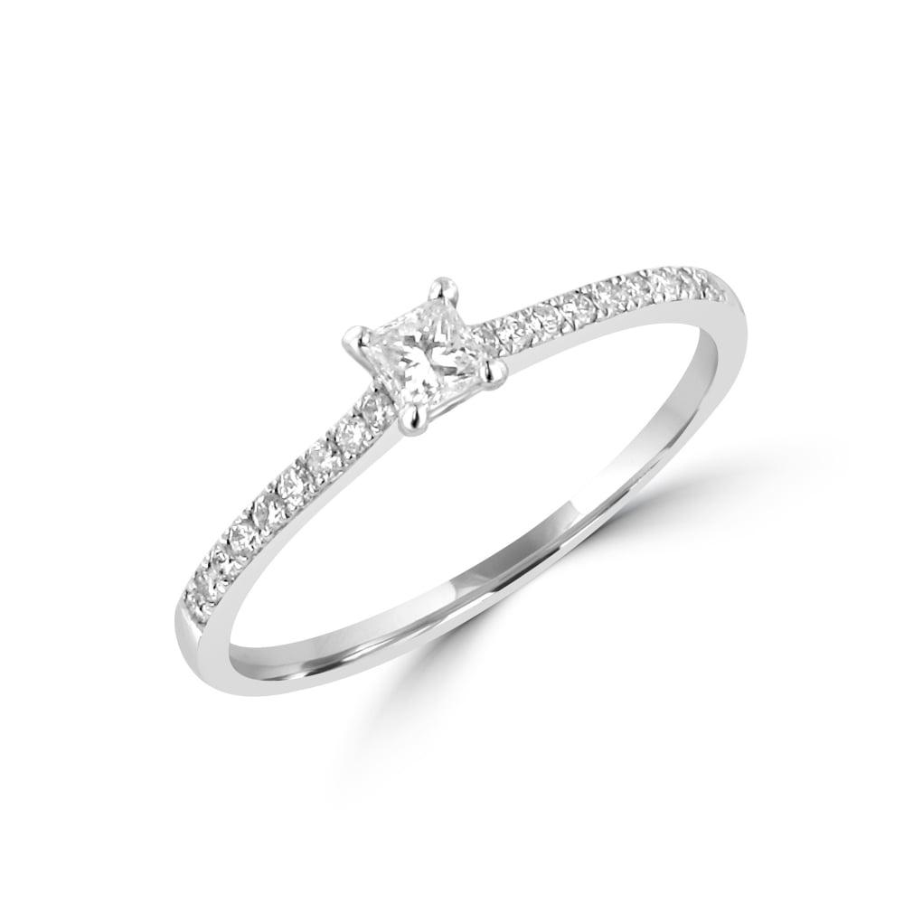 0.15ct Princess Diamond Engagement Ring