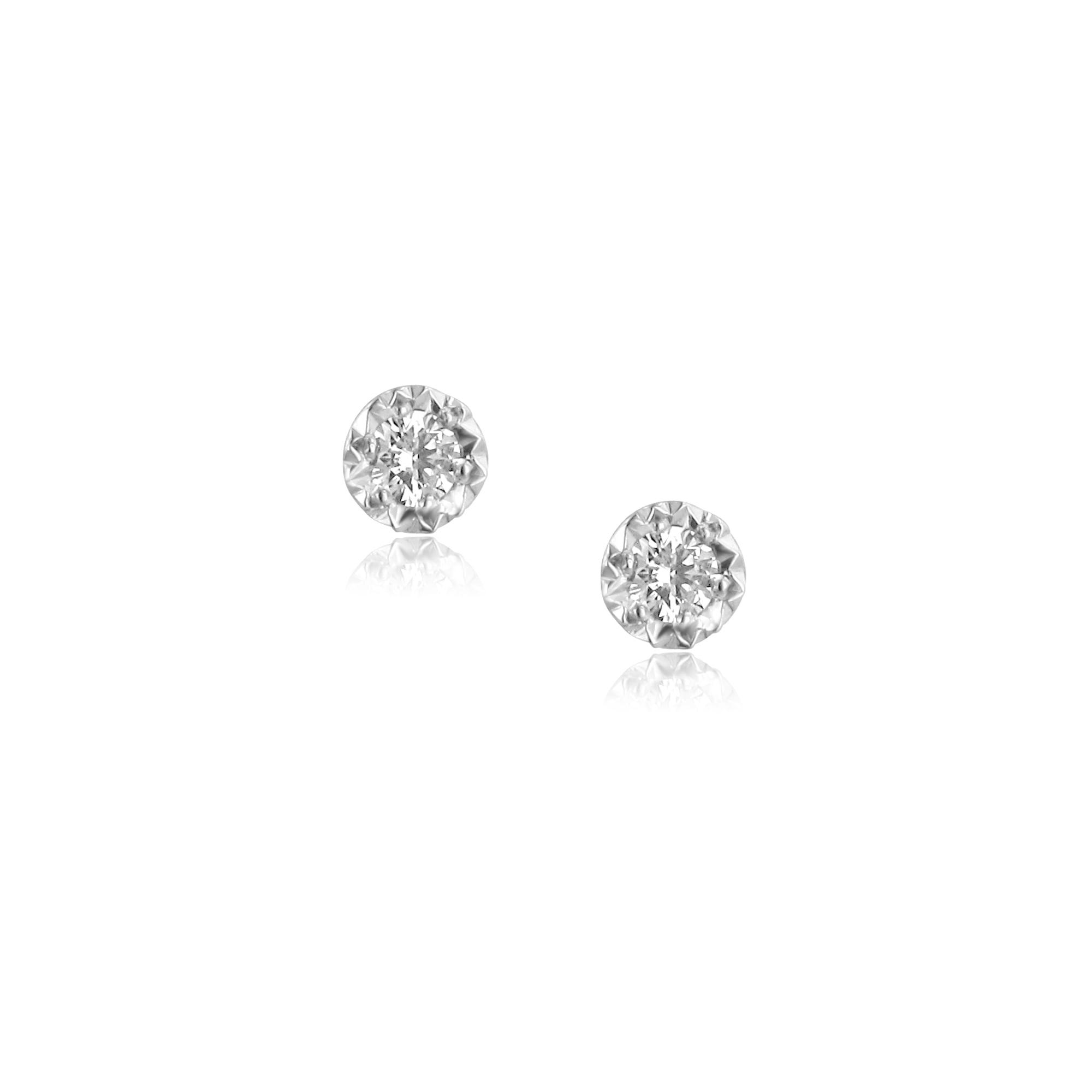 ebb83410e 0.15ct Round Diamond Stud Earrings in 9ct White Gold - Womens from Avanti  of Ashbourne Ltd UK