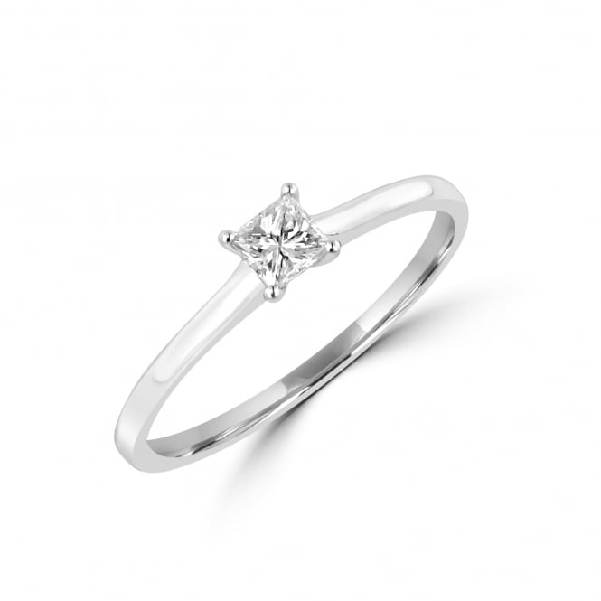 0.20ct Princess Cut Diamond Solitaire Ring