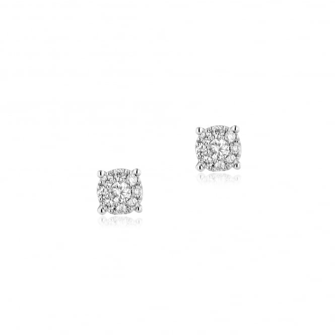 0.24ct Round Diamond Stud Earrings in 18ct White Gold