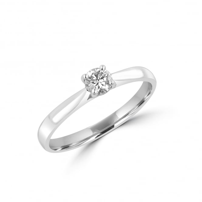 0.25ct Round Diamond 18ct White Gold Engagement Ring