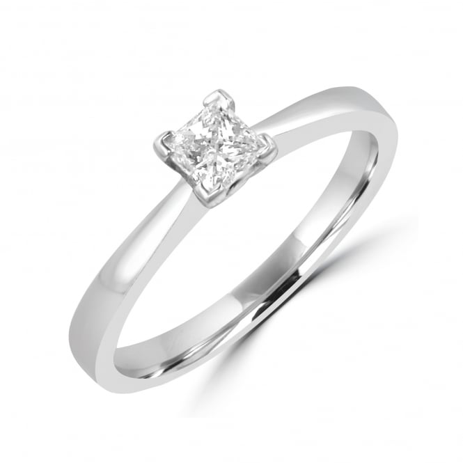 0.27ct Princess Cut Diamond Platinum Engagement Ring RPN32323