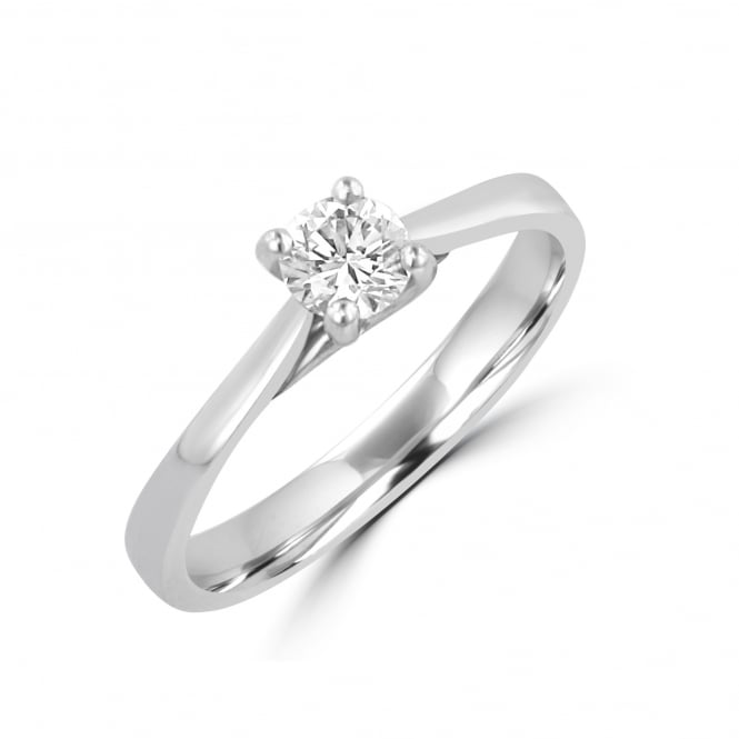 0.31ct D Colour Round Diamond Engagement Ring RPN31133