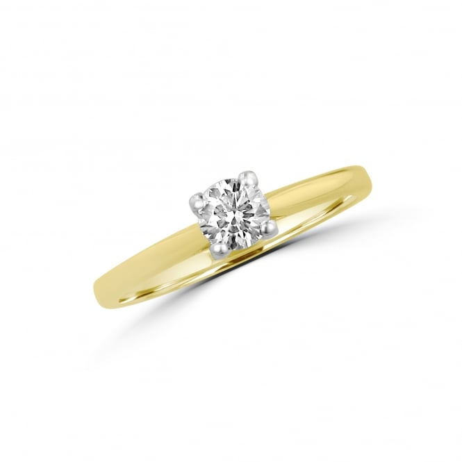 0.38ct Round Diamond Solitaire Engagement Ring RMN3769
