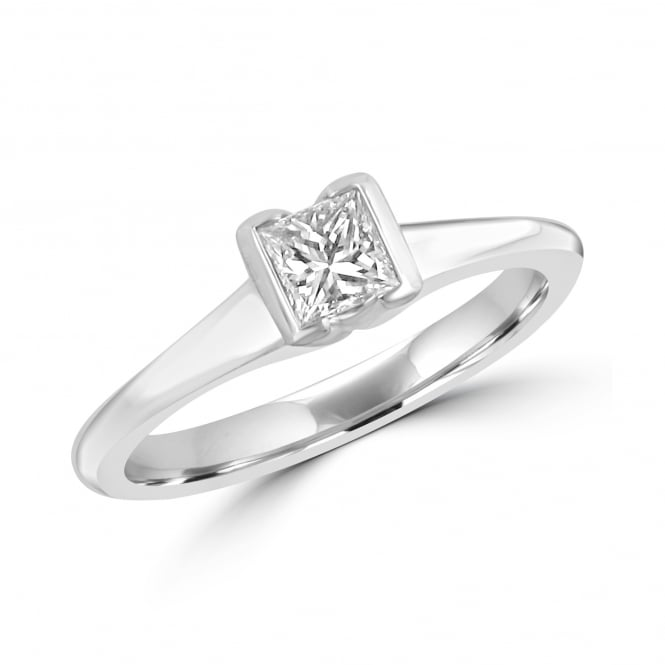 0.40ct Princess Cut Diamond Solitaire Ring