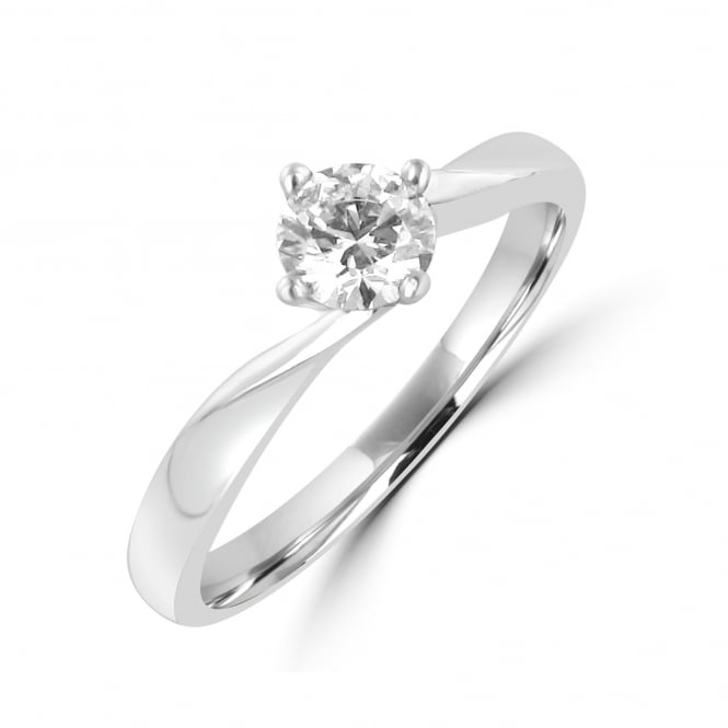 0.40ct Round Diamond GIA Certified Solitaire Engagement Ring RPN31229