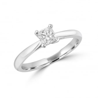 0.41ct Princess HRD Certified Diamond Engagement Ring