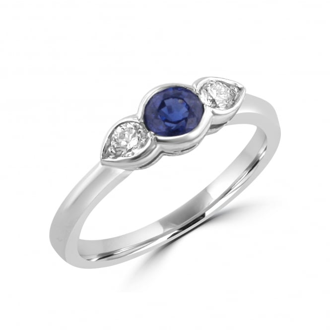 0.41ct Sapphire and Diamond Three Stone Ring RWN23503
