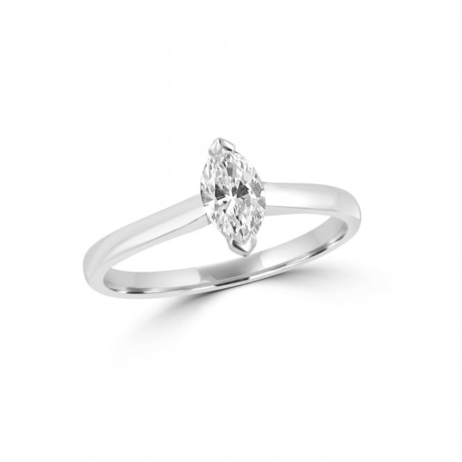 0.50ct Marquise Diamond and Platinum Engagement Ring GIA Certified
