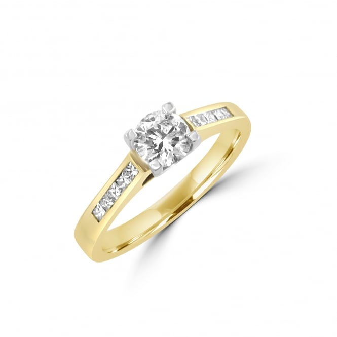 0.50ct Round Diamond Ring with Diamond Shoulders RYN31172