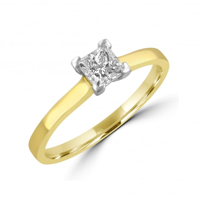 0.51ct Princess Cut Diamond and Gold engagement Ring RYN30373
