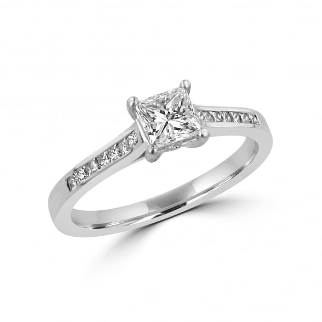 0.53ct IGI Princess Cut Diamond Engagement Ring