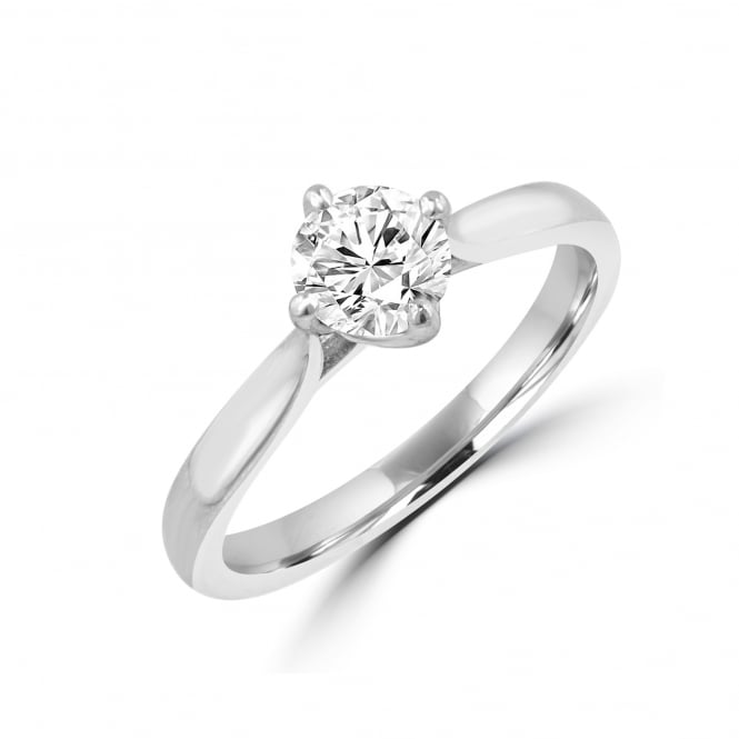 0.61ct round diamond F SI1 platinum engagement ring RPN31223