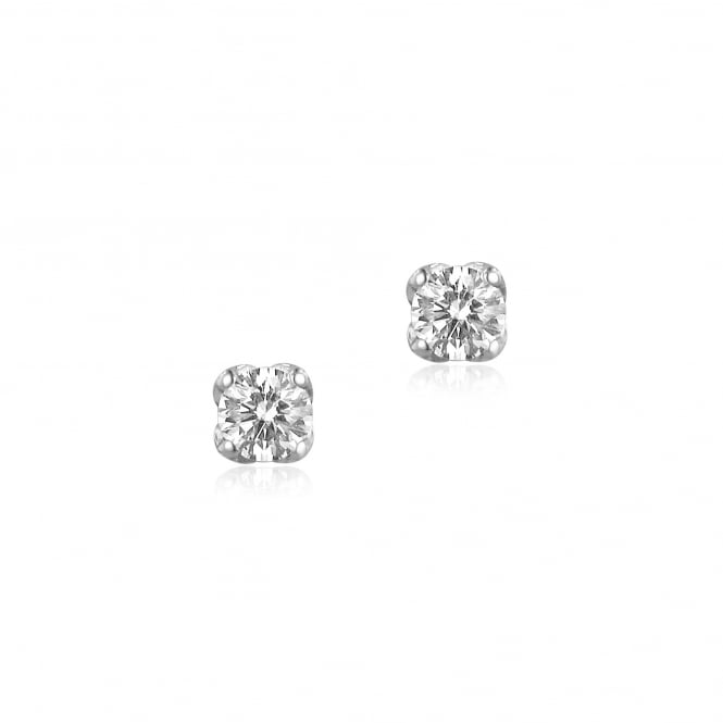 0.72ct Round Diamond Earrings in 18ct White Gold