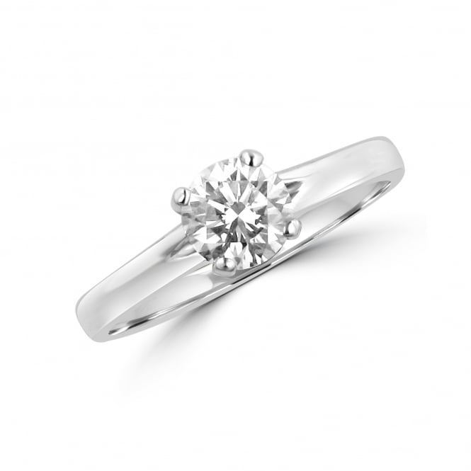 0.73ct Round Diamond Solitaire Engagement Ring