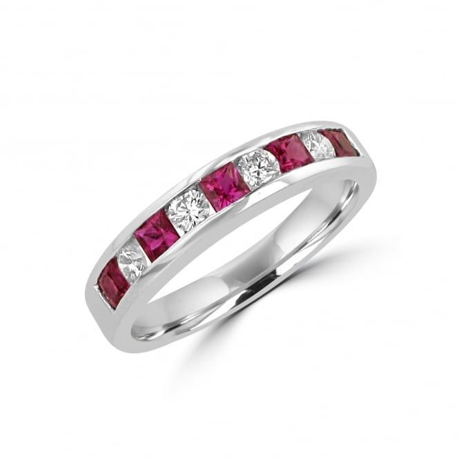 0.82ct Ruby and 0.32ct Diamond Ring
