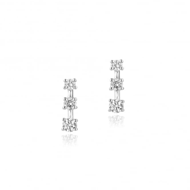 0.89ct Trilogy Round Diamond Earrings