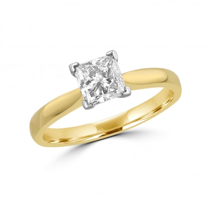 0.90ct F Colour GIA Princess Cut Diamond Engagement Ring