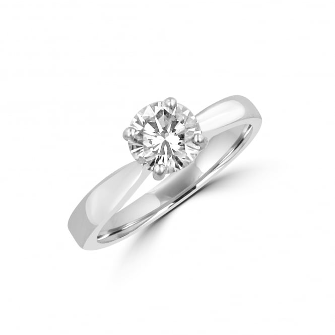 1.01ct Round Diamond Solitaire Ring