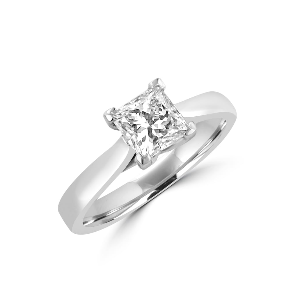 1 02ct princess solitaire engagement ring womens