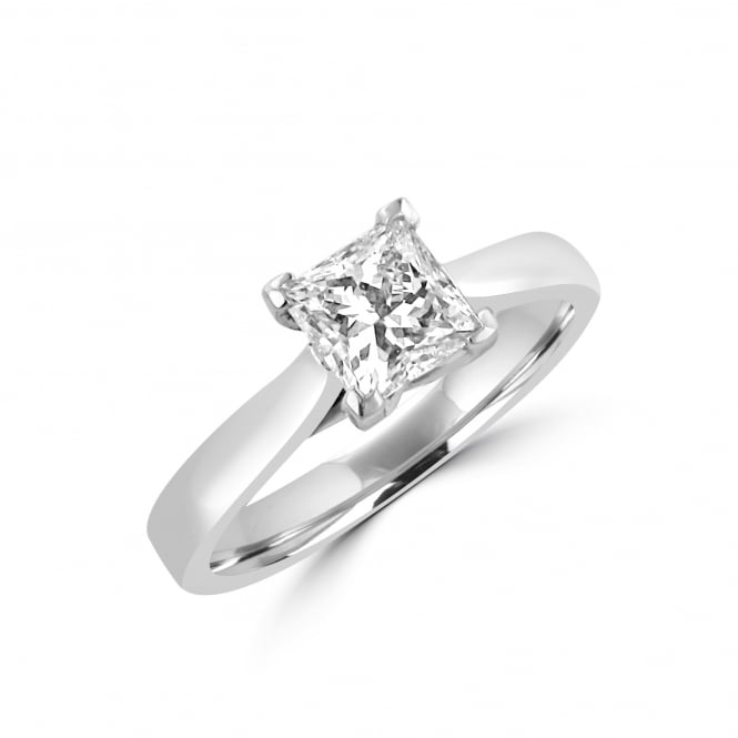 1.02ct Princess Diamond Solitaire Engagement Ring