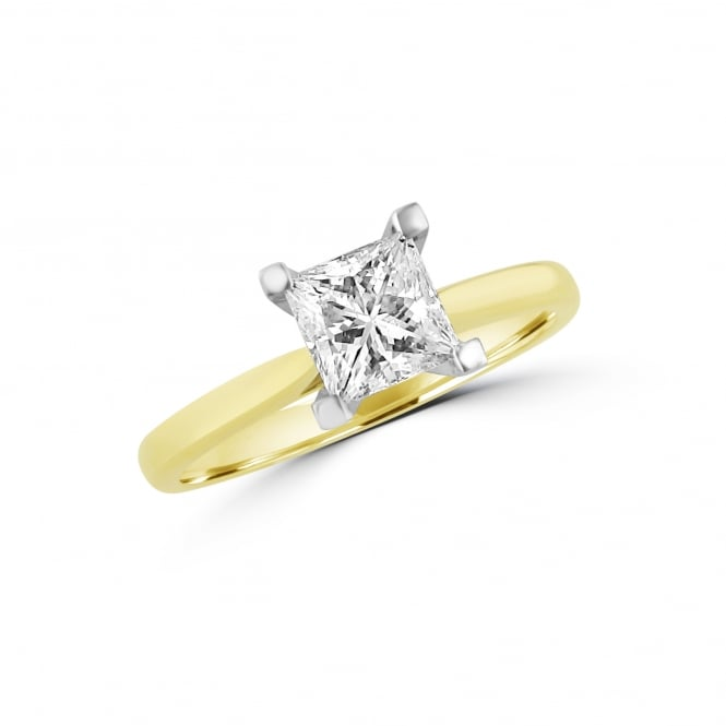 1.04ct Princess Cut diamond Solitaire Engagement Ring RKN36452