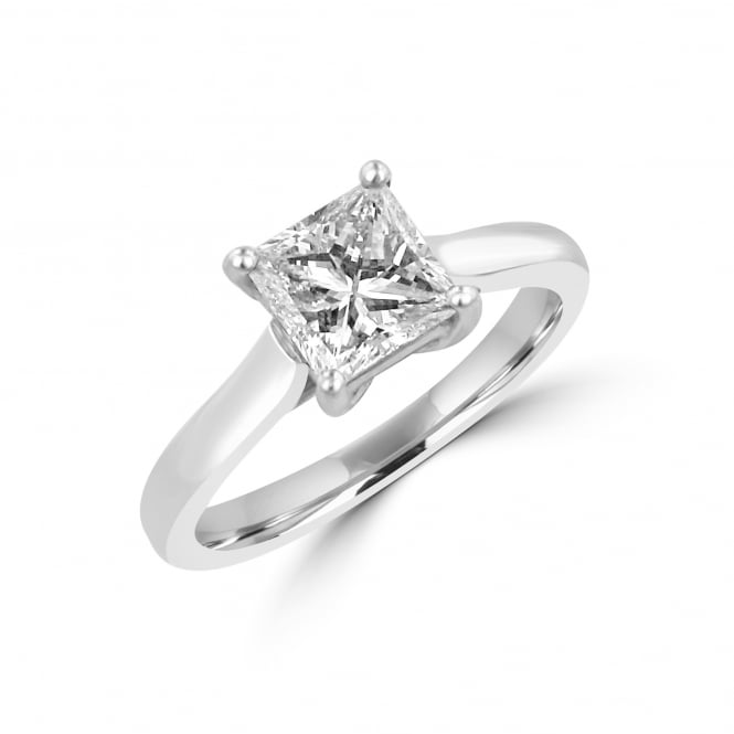 1.14ct Princess Cut Diamond Solitaire Engagement Ring
