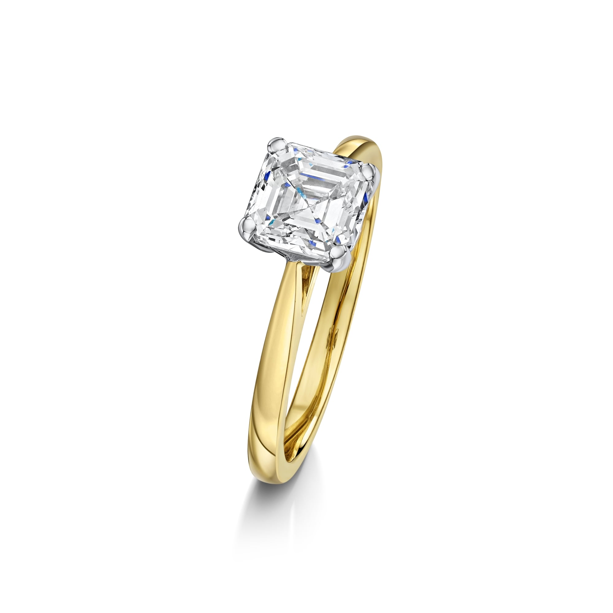 product deco diamond gia cut art platinum in antique asher ring engagement home asscher