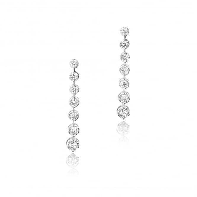 1.57ct Diamond Drop Earrings in 18ct White Gold