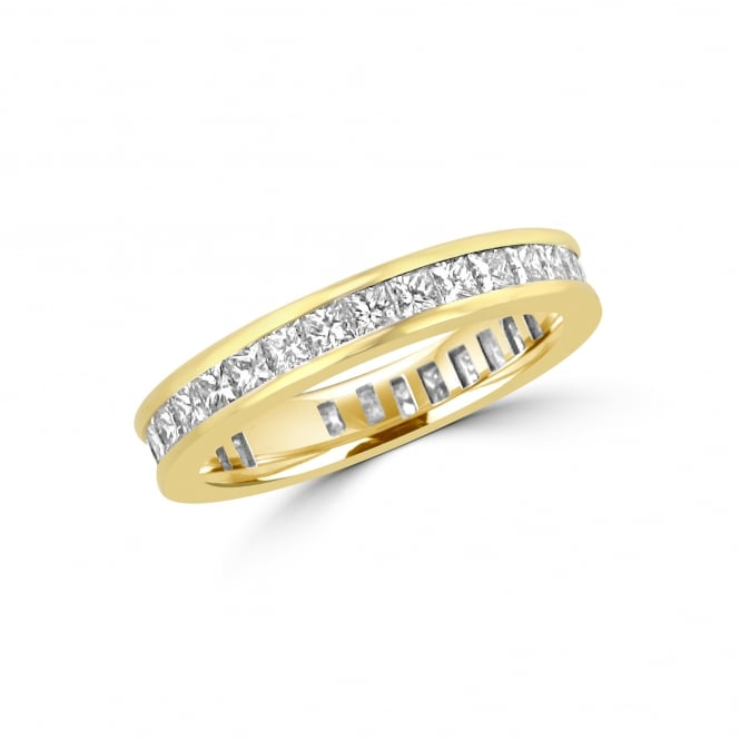 1.70ct Princess Cut Diamond Full Eternity Ring