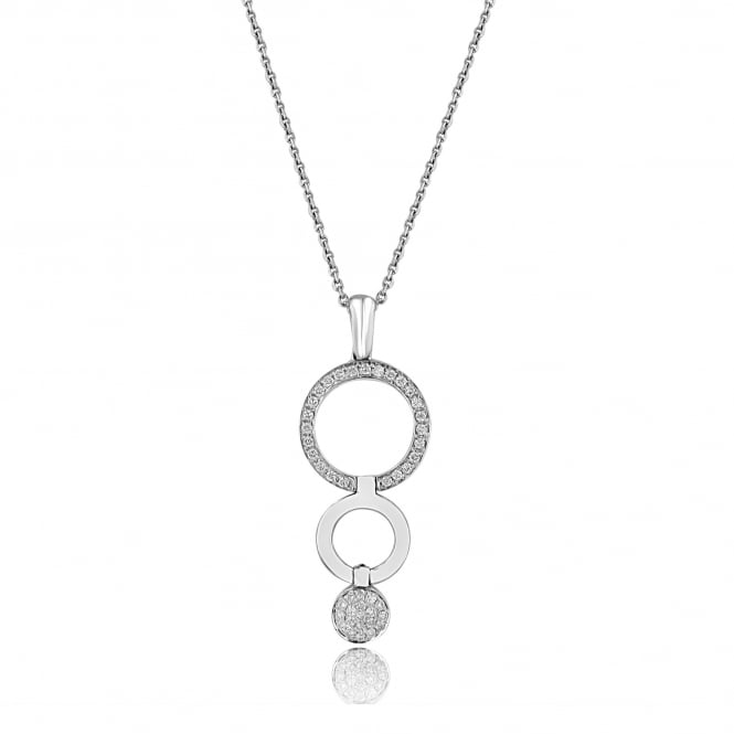 14ct & 18ct Gold 0.50ct Triple Disc Diamond Necklace