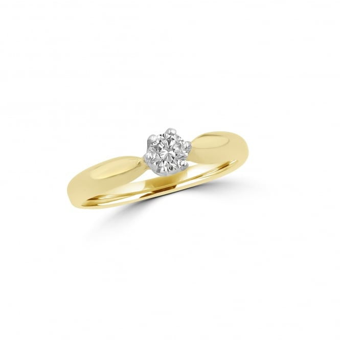 14ct Gold Diamond Solitaire Ring RYD36395