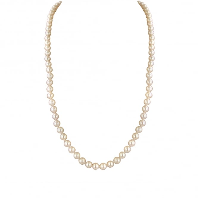 "16"" 5-5.5mm Akoya Pearl Necklace with 18ct Yellow Gold Clasp"