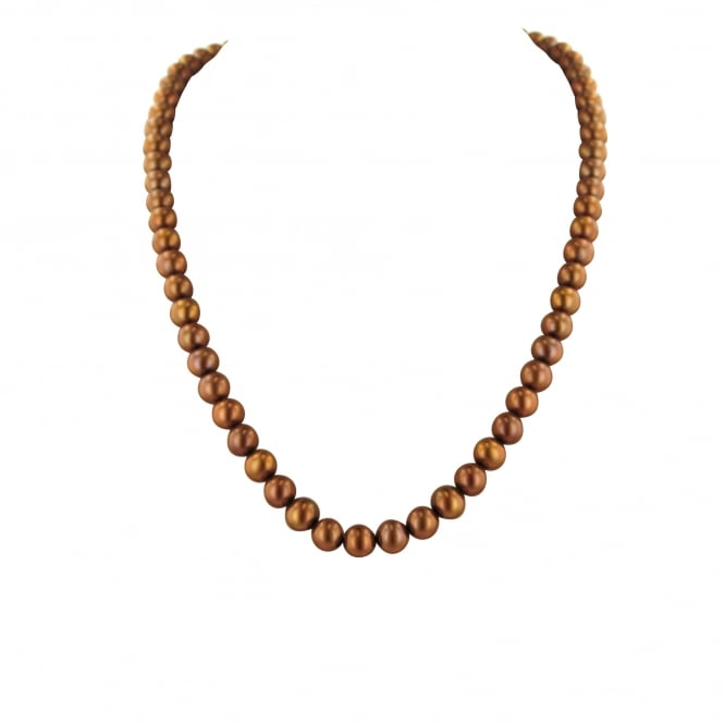"16"" Brown Freshwater Cultured Pearl Necklace NY3044"