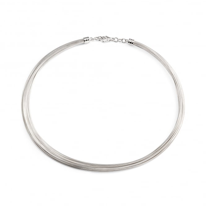 "16""Silver Multi Wire Necklet"