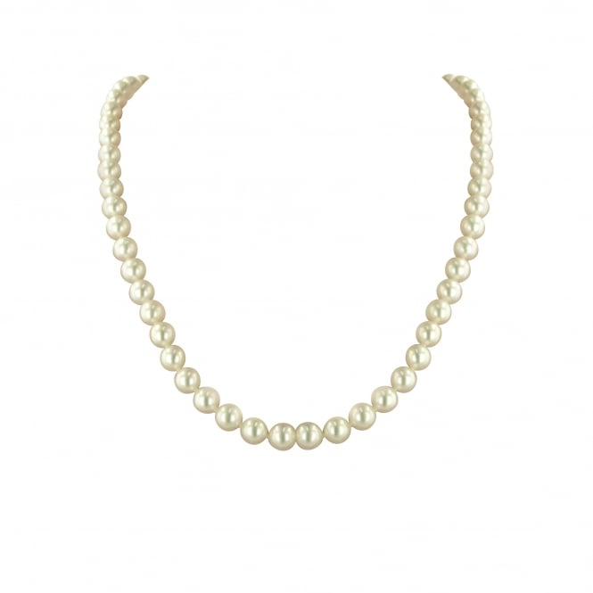 "16"" White Akoya Cultured Pearl Necklace"