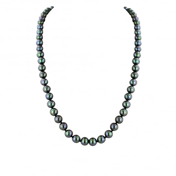 "18"" Black Freshwater Cultured Pearl Necklace"