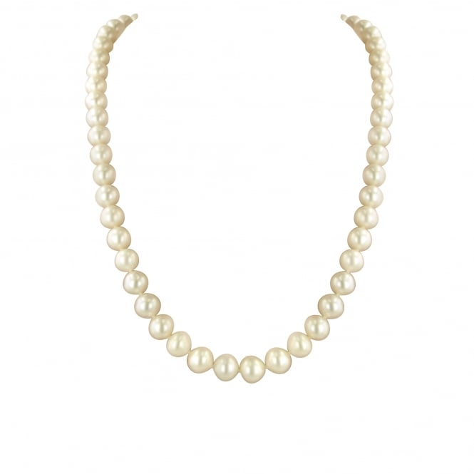 "18"" White Freshwater Cultured pearl Necklace with 8-8.5mm pearls"