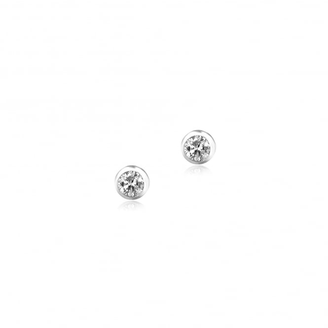18ct Gold 0.25ct Round Diamond Stud Earrings