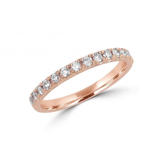 18ct Rose Gold 0.30ct Diamond Wedding Ring