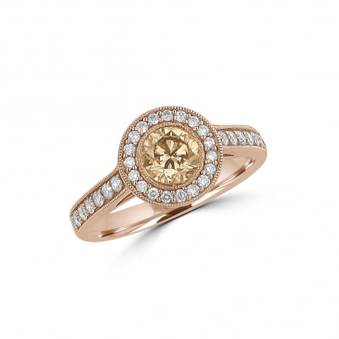 18ct Rose Gold Chocolate Diamond Cluster Ring