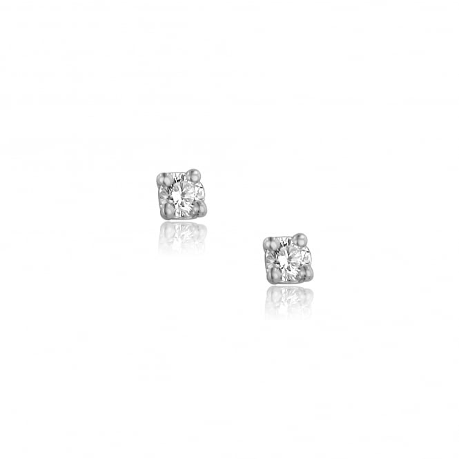 18ct White Gold 0.15ct Diamond Stud Earrings