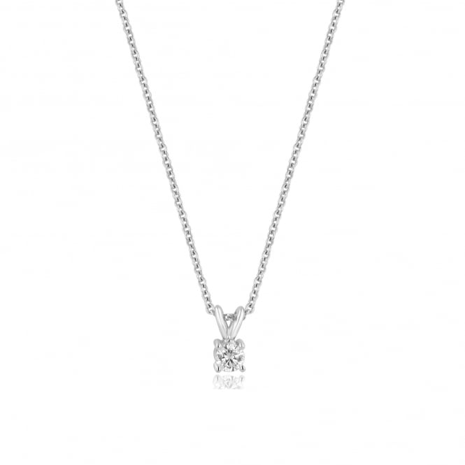 18ct White Gold 0.33ct Round Diamond Necklace