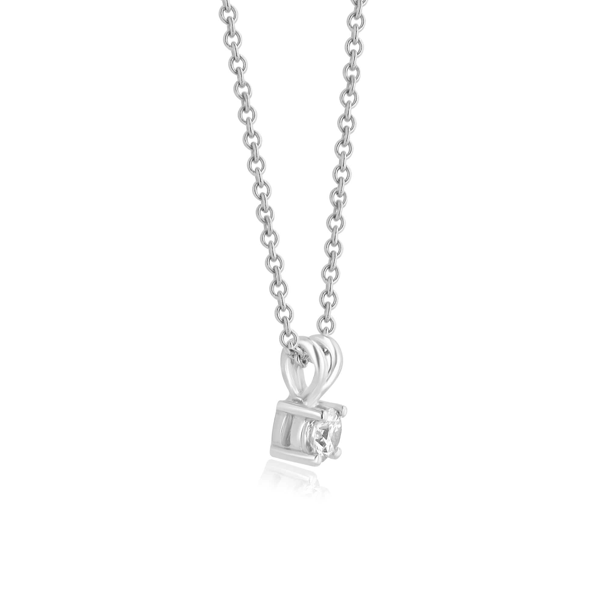 83074b38db9632 18ct White Gold 0.33ct Round Diamond Necklace - Womens from Avanti ...