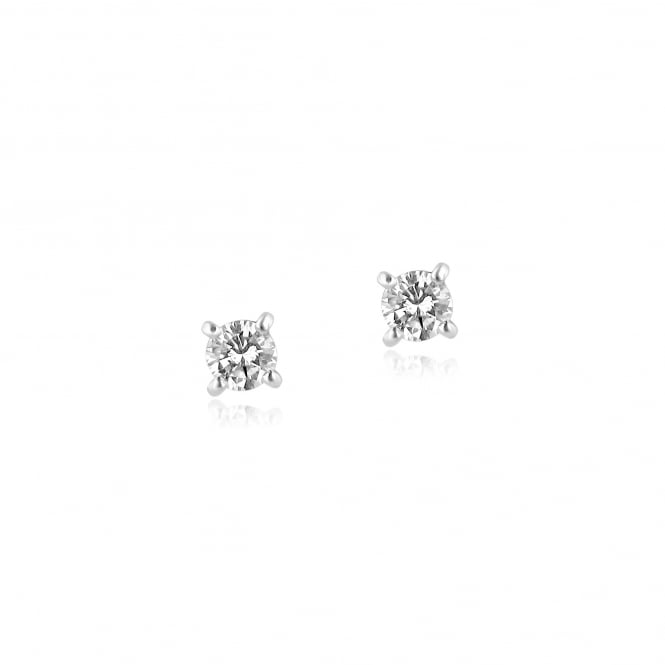 18ct White Gold 0.47ct Round Diamond Single Diamond Earrings