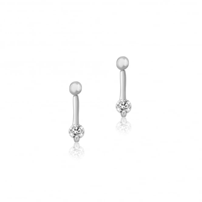 18ct White Gold 0.50ct Round Diamond Earrings