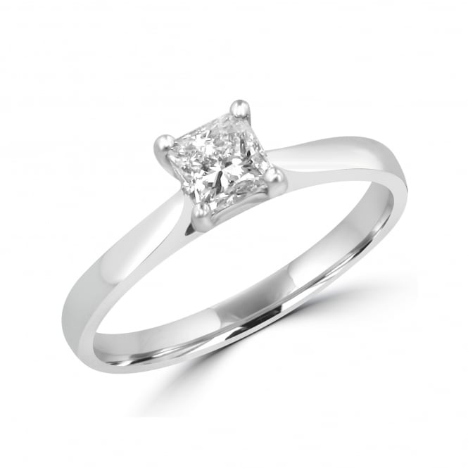 18ct White Gold 0.53ct Princess Diamond Ring RWN31148