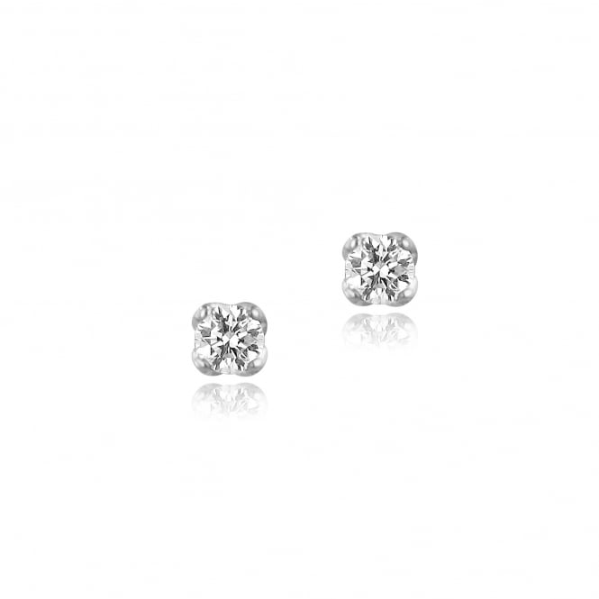 18ct White Gold 0.68ct Single Diamond Stud Earrings
