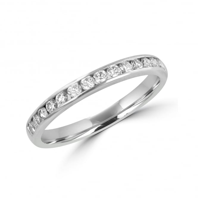 Avanti 18ct White Gold 2.5mm Wide Round Diamond Ring By