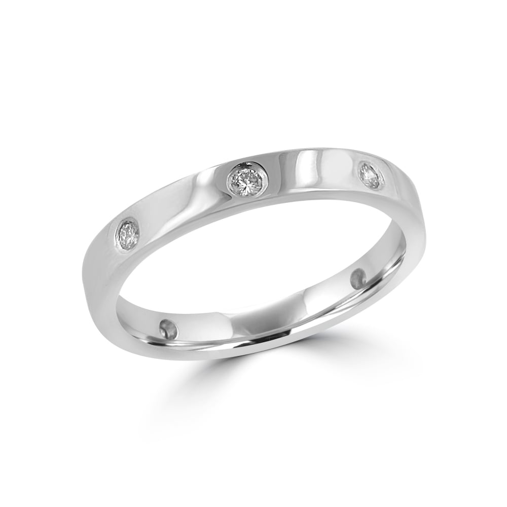 18ct White Gold BN Diamond Wedding Ring